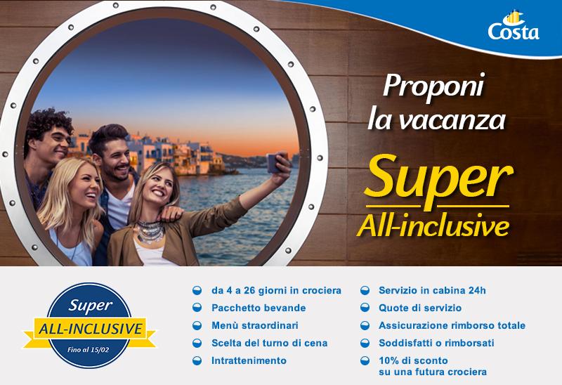 SUPER ALL-INCLUSIVE DI COSTA CROCIERE